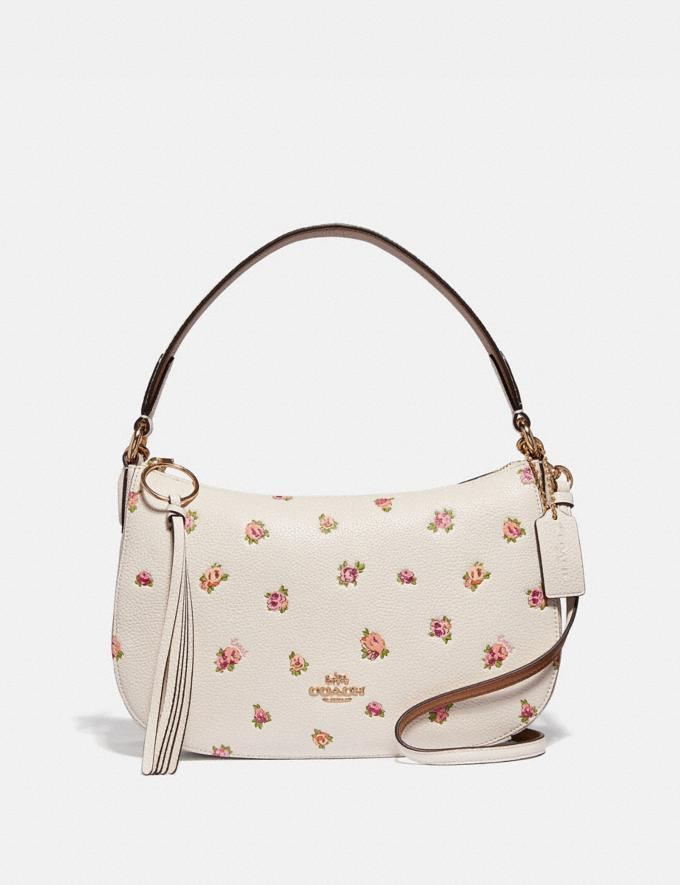 Coach Sutton Crossbody With Floral Print Chalk/Gold Women Bags Crossbody Bags