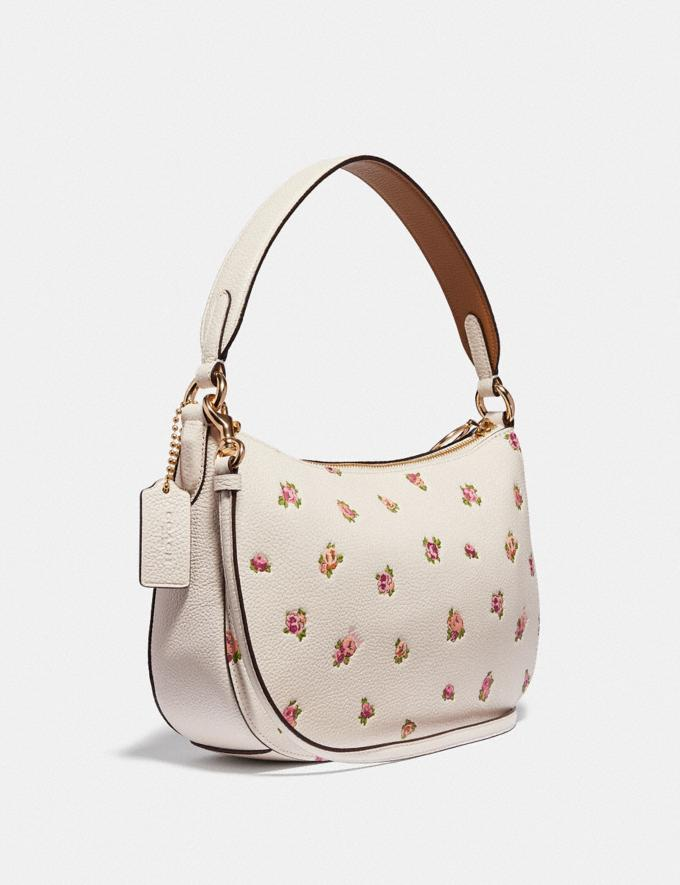 Coach Sutton Crossbody With Floral Print Chalk/Gold Women Bags Crossbody Bags Alternate View 1