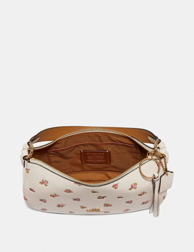 Coach Sutton Crossbody With Floral Print Chalk/Gold Women Bags Crossbody Bags Alternate View 2
