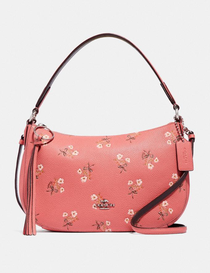 Coach Sutton Crossbody With Floral Print Pink New Featured Online-Only