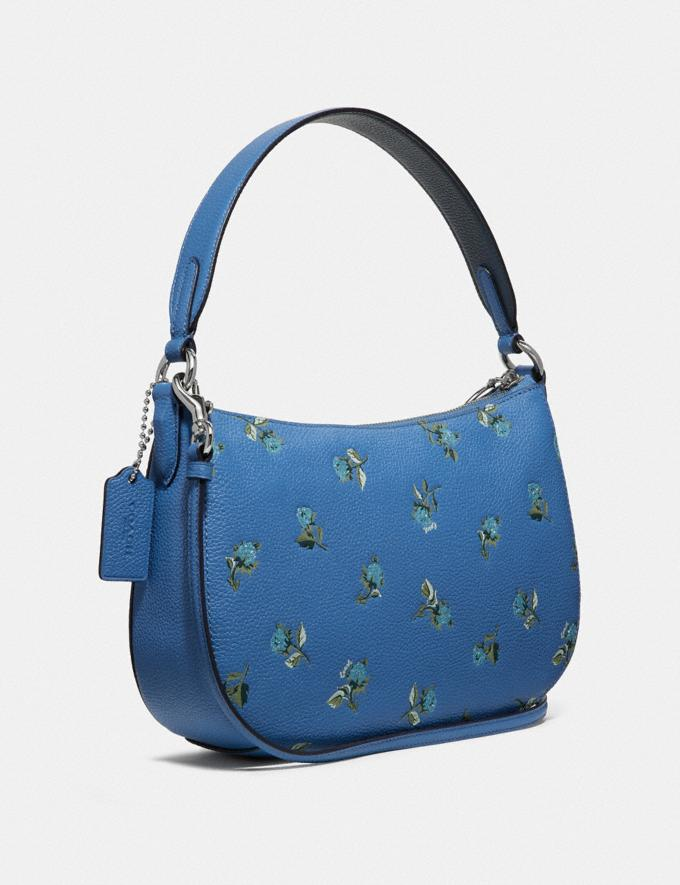 Coach Sutton Crossbody With Floral Print Silver/Slate New Featured Online-Only Alternate View 1