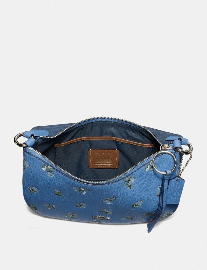 Coach Sutton Crossbody With Floral Print Silver/Slate New Featured Online-Only Alternate View 3
