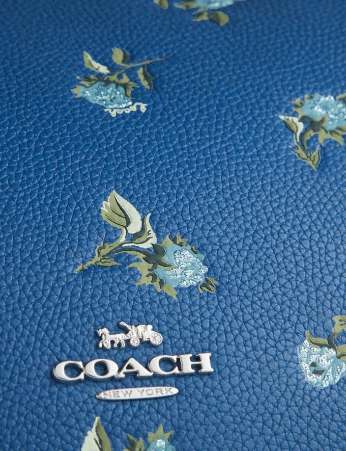 Coach Sutton Crossbody With Floral Print Silver/Slate New Featured Online-Only Alternate View 5