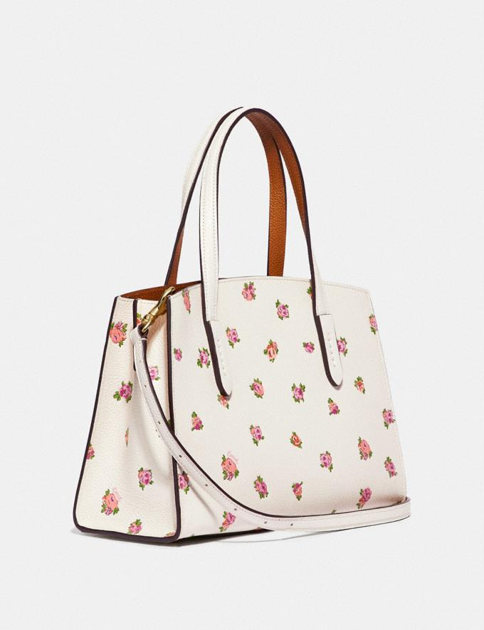 Coach Charlie Carryall 28 With Floral Print Chalk/Gold Gifts For Her Mother's Day Gifts Mother's Day Gifts Alternate View 1