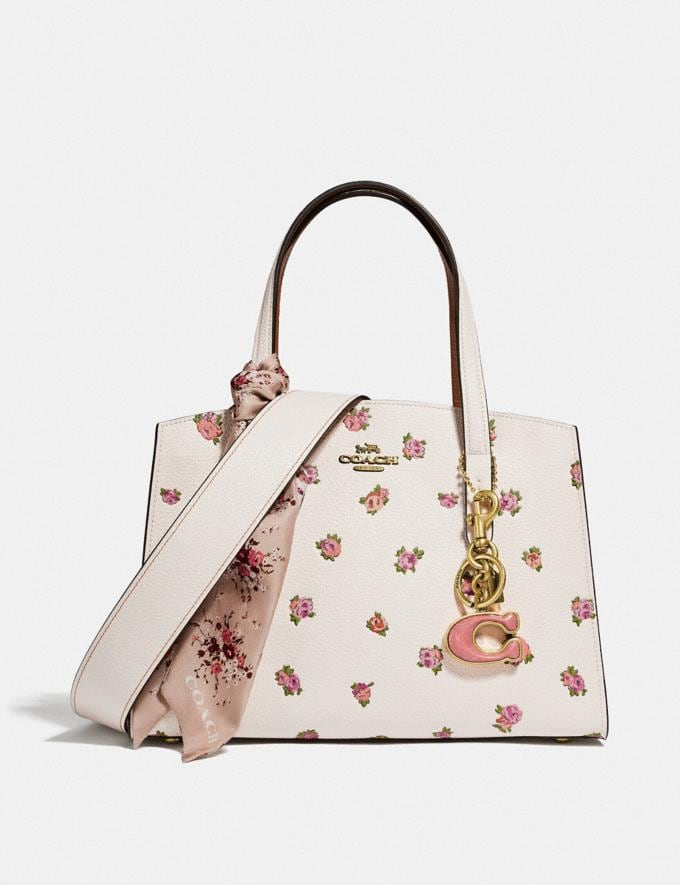 Coach Charlie Carryall 28 With Floral Print Chalk/Gold Gifts For Her Mother's Day Gifts Mother's Day Gifts Alternate View 3