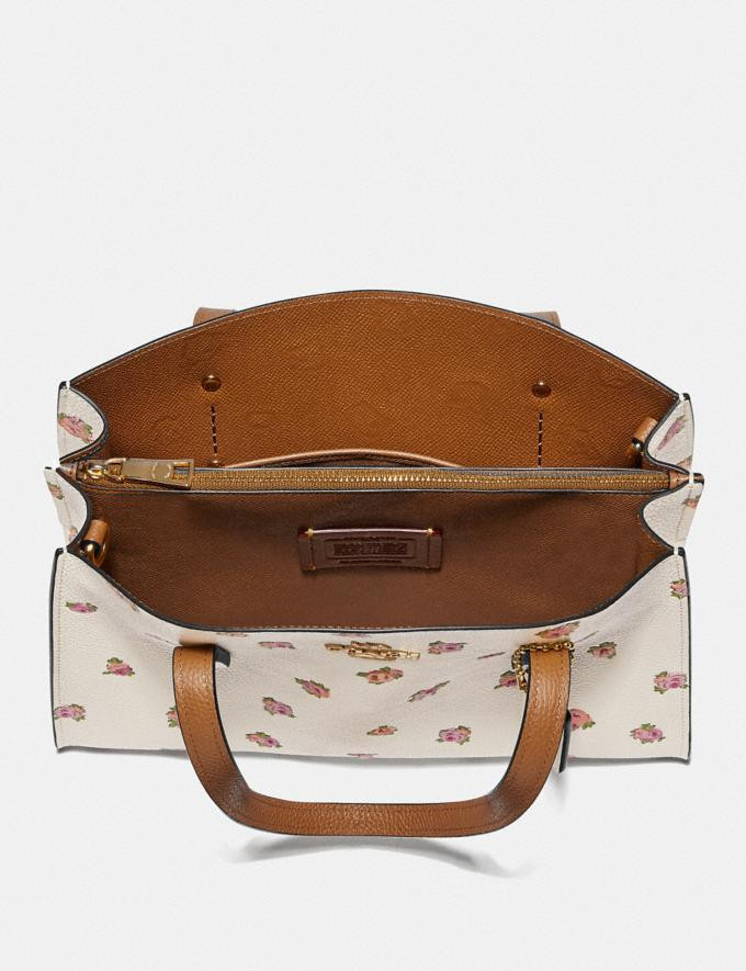 Coach Charlie Carryall 28 With Floral Print Chalk/Gold Gifts For Her Mother's Day Gifts Mother's Day Gifts Alternate View 2