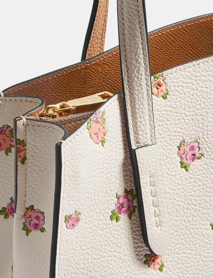 Coach Charlie Carryall 28 With Floral Print Chalk/Gold Gifts For Her Mother's Day Gifts Mother's Day Gifts Alternate View 5