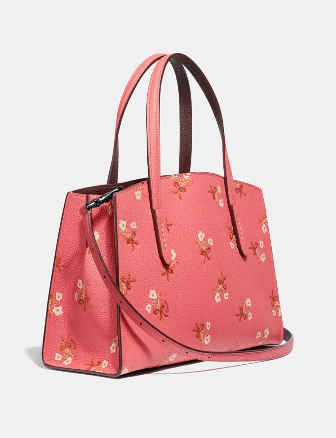 Coach Charlie Carryall 28 With Floral Print Bright Coral/Silver New Women's New Arrivals Bags Alternate View 1