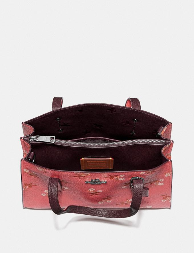 Coach Charlie Carryall 28 With Floral Print Bright Coral/Silver New Women's New Arrivals Bags Alternate View 3