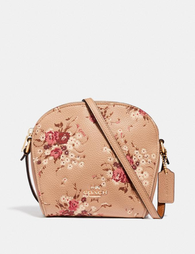 Coach Farrow Crossbody With Floral Print Beechwood/Gold New Featured Online Exclusives