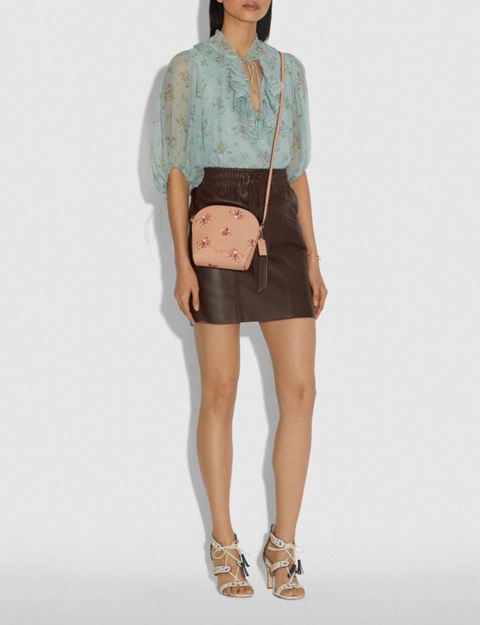 Coach Farrow Crossbody With Floral Print Beechwood/Gold New Featured Online Exclusives Alternate View 3