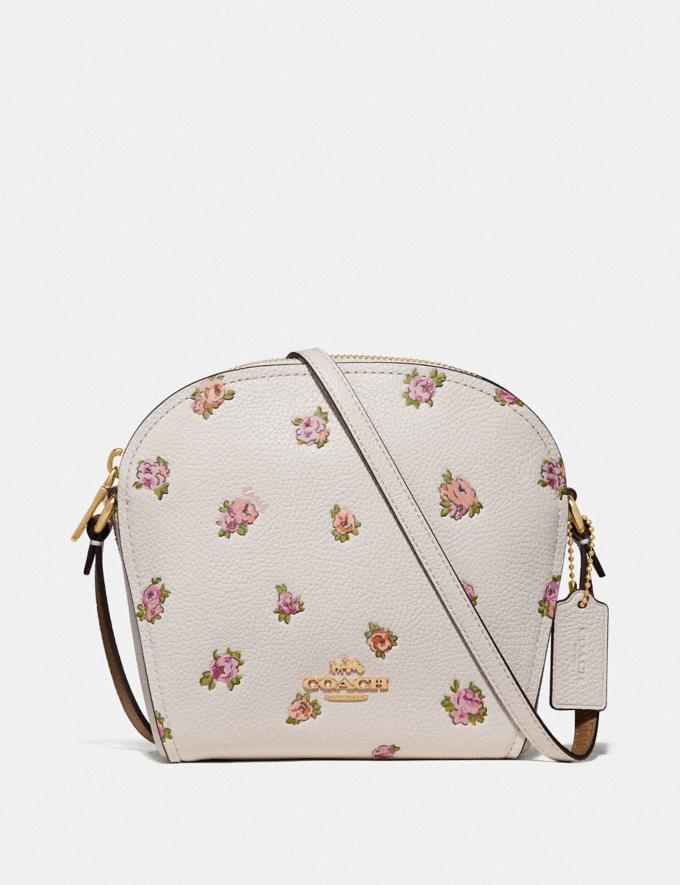 Coach Farrow Crossbody With Floral Print Chalk/Gold New Featured Online Exclusives