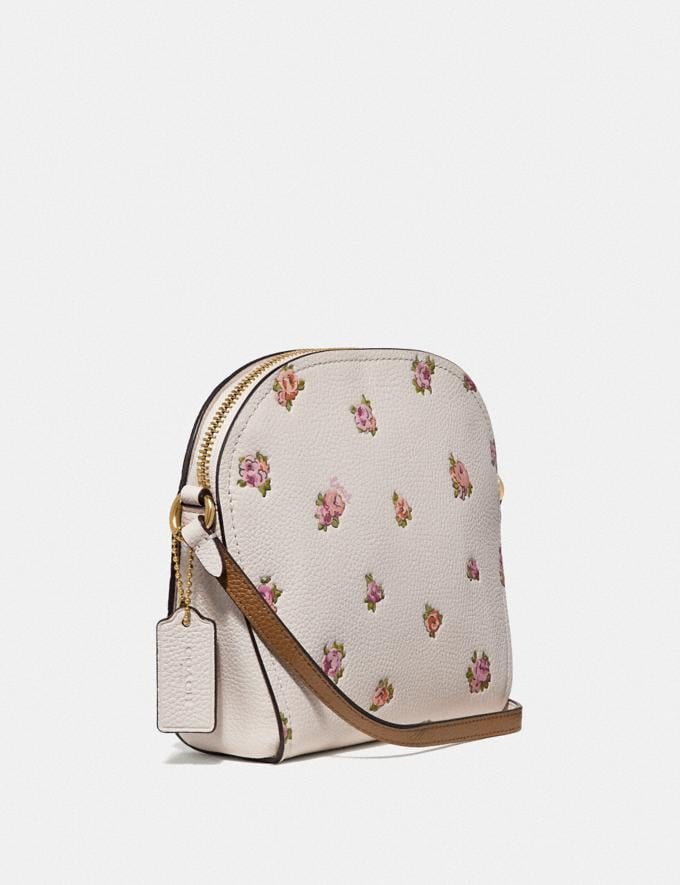 Coach Farrow Crossbody With Floral Print Chalk/Gold New Featured Online Exclusives Alternate View 1