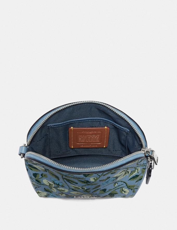 Coach Farrow Crossbody With Floral Print Slate/Silver New Featured Online Exclusives Alternate View 2
