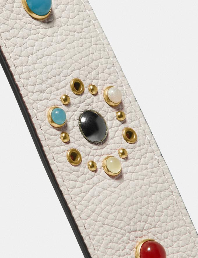 Coach Strap With Rivets Chalk/Gold New Featured Online Exclusives Alternate View 3