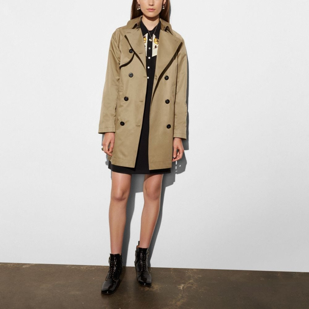 Cotton Convertible Trench