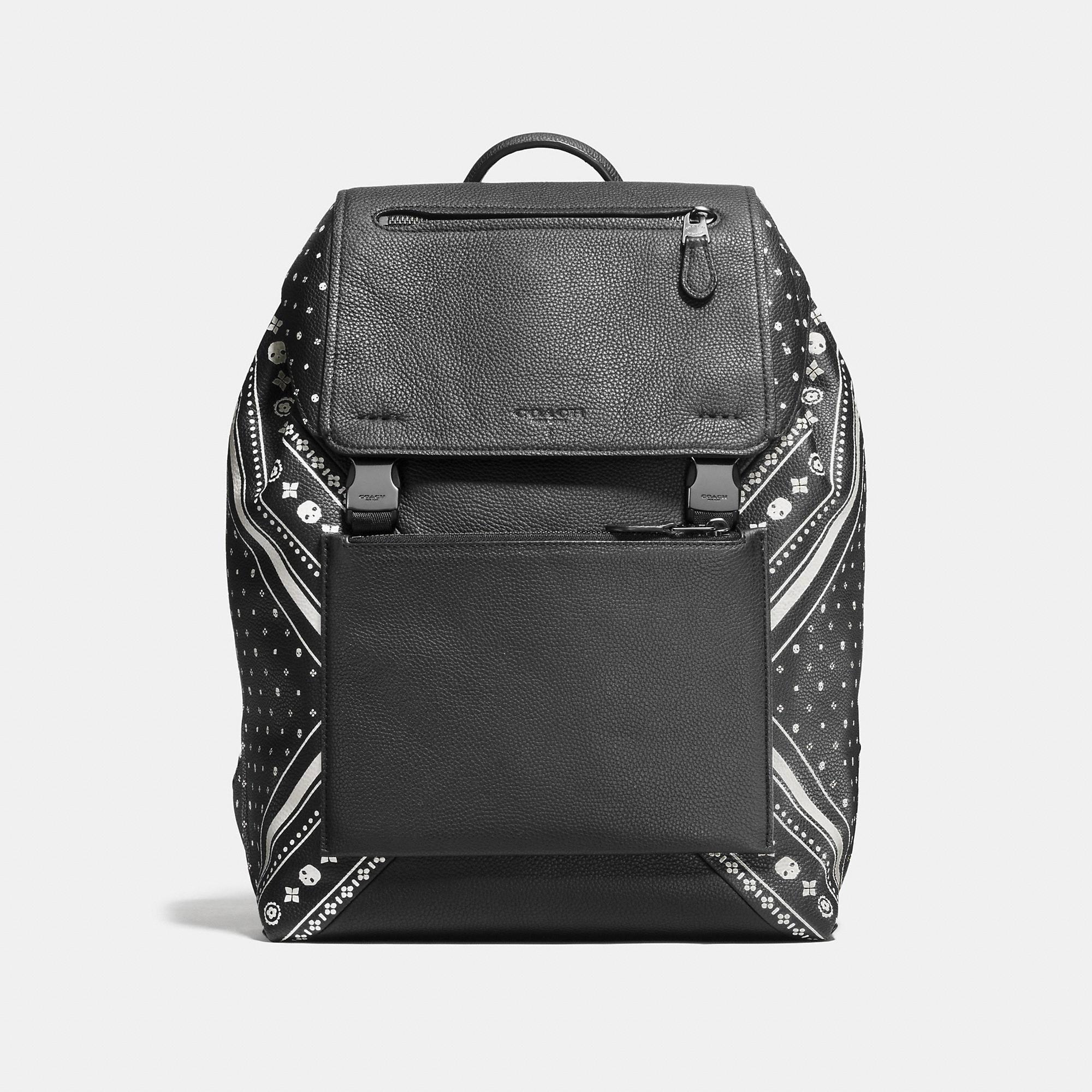 Coach Manhattan Backpack In Bandana Patchwork Leather