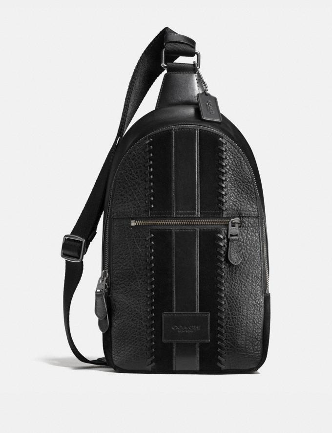 Coach Campus Pack Rip and Repair With Varsity Stripe Black Antique Nickel/Black Limitierte Angebote Herren Taschen