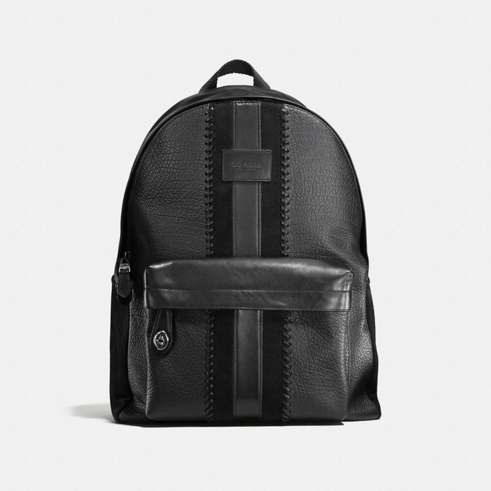 CAMPUS BACKPACK RIP AND REPAIR WITH VARSITY STRIPE