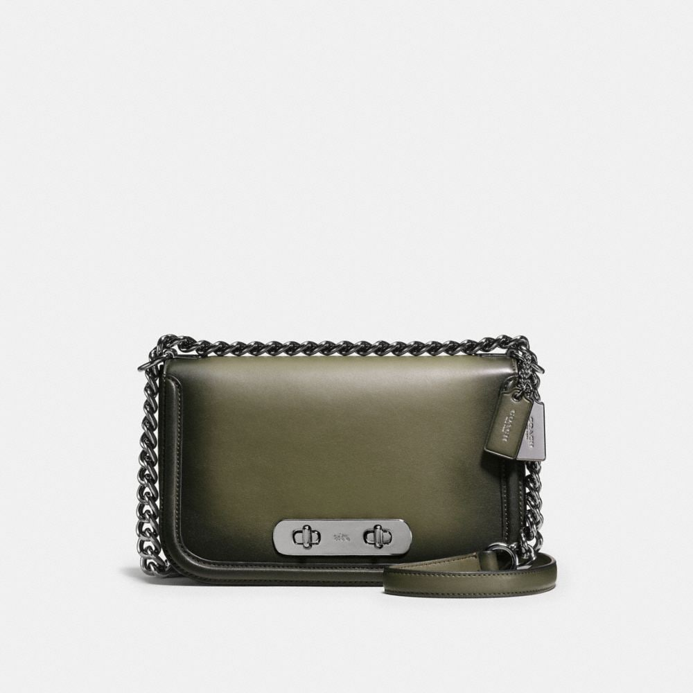 COACH SWAGGER SHOULDER BAG IN BURNISHED GLOVETANNED LEATHER
