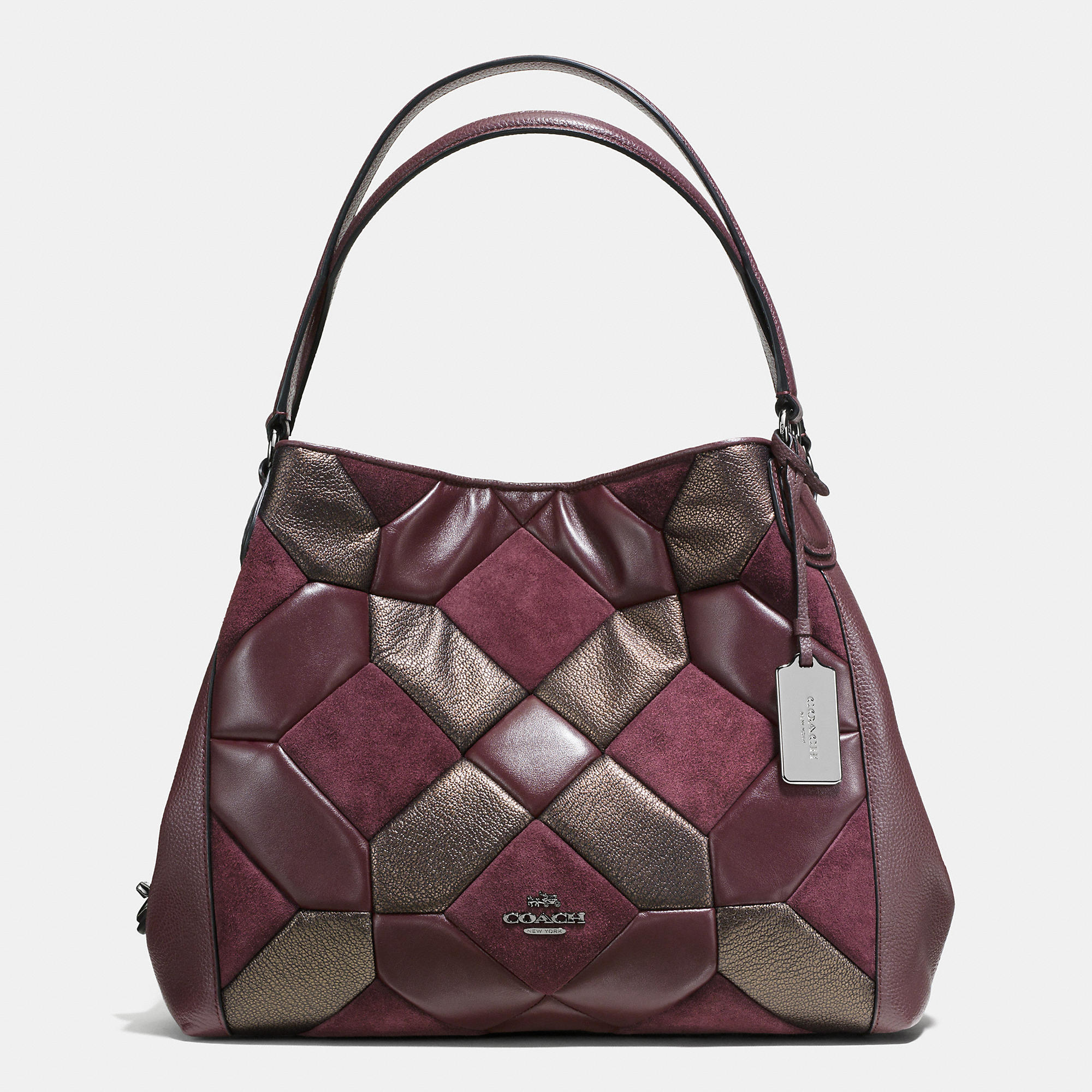 Coach Edie Shoulder Bag 31 In Mixed Materials Canyon Quilt