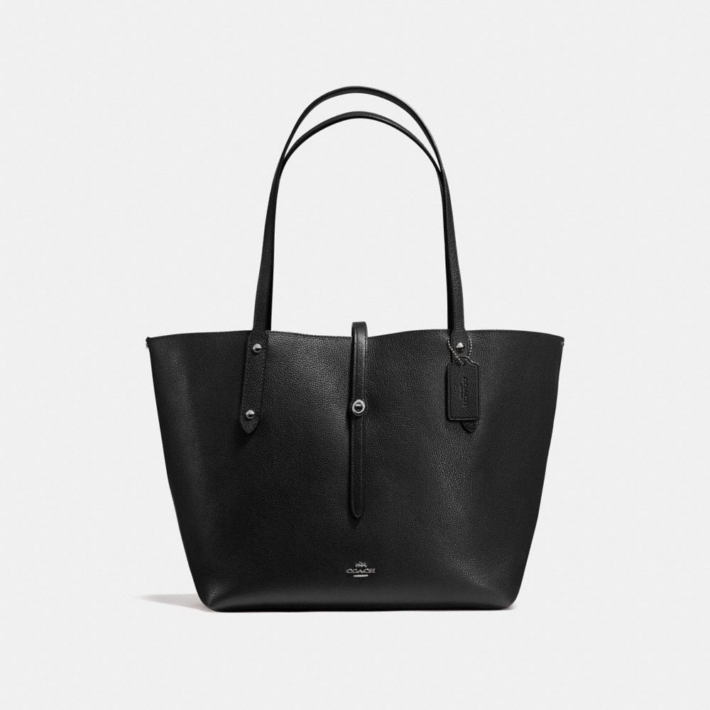 Market Tote in Printed Leather
