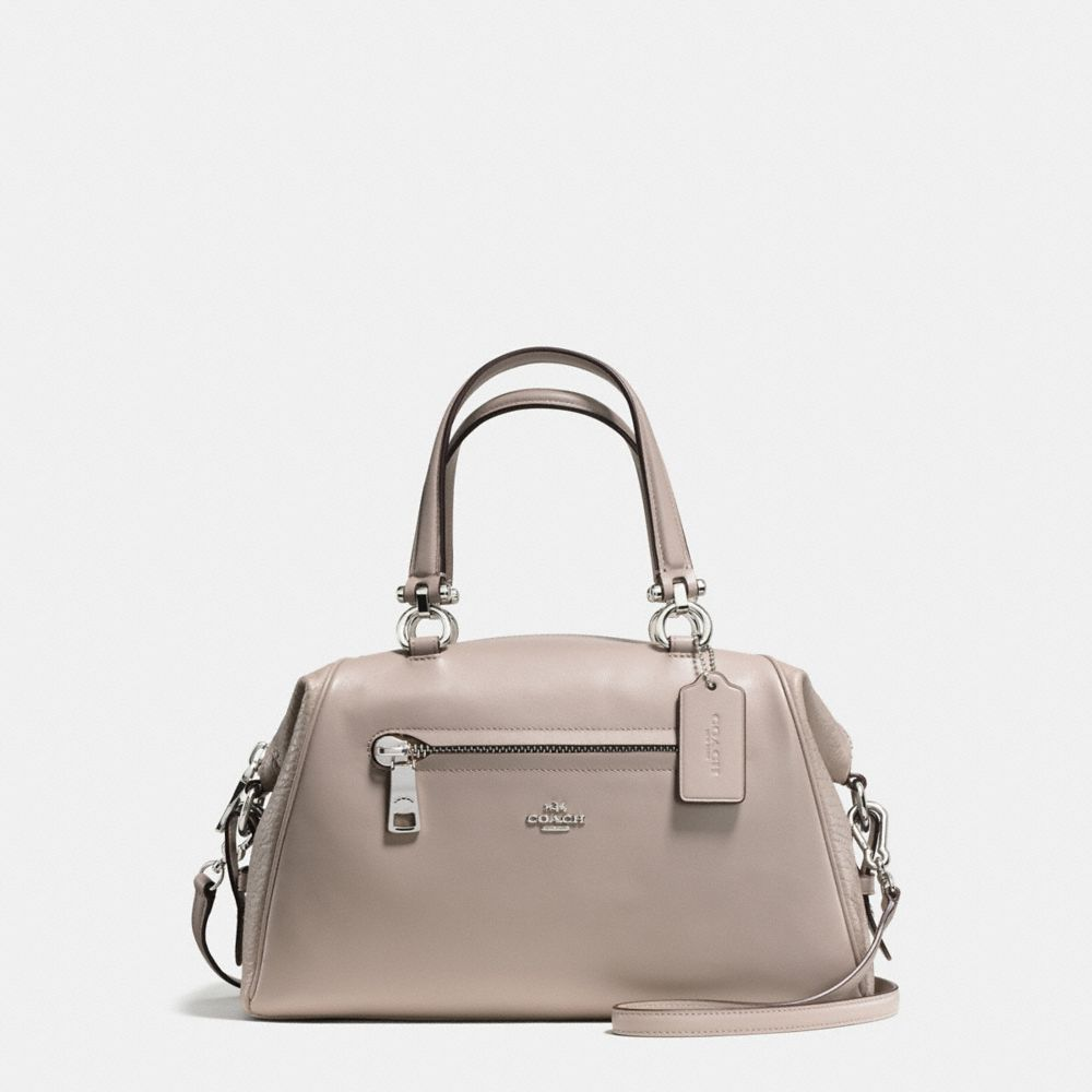 PRIMROSE SATCHEL IN MIXED LEATHERS