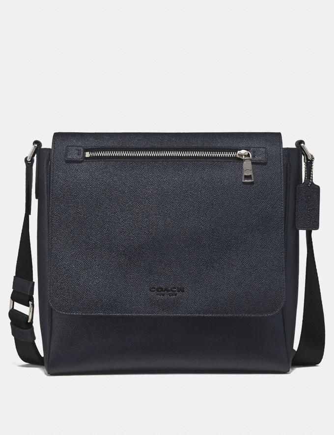 Coach Kennedy Map Bag Midnight Navy/Silver Men Bags