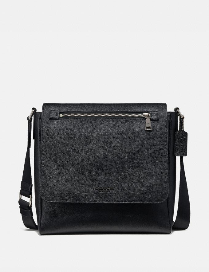 Coach Kennedy Map Bag Black/Silver Men Edits Work