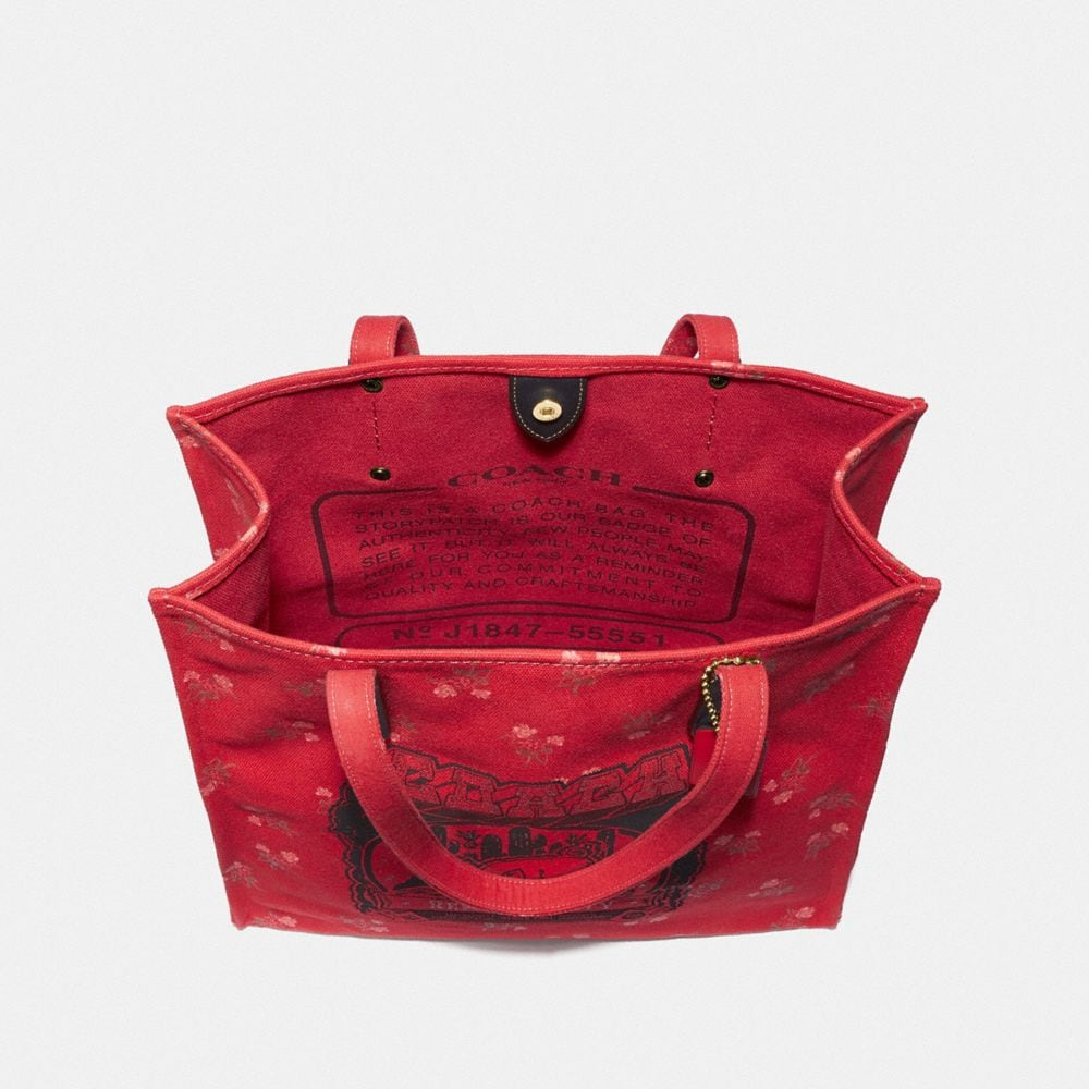 Coach Lunar New Year Tote With Pig Motif Alternate View 2