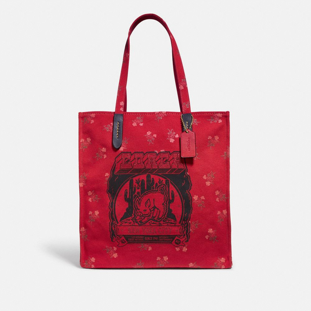 LUNAR NEW YEAR TOTE WITH PIG MOTIF