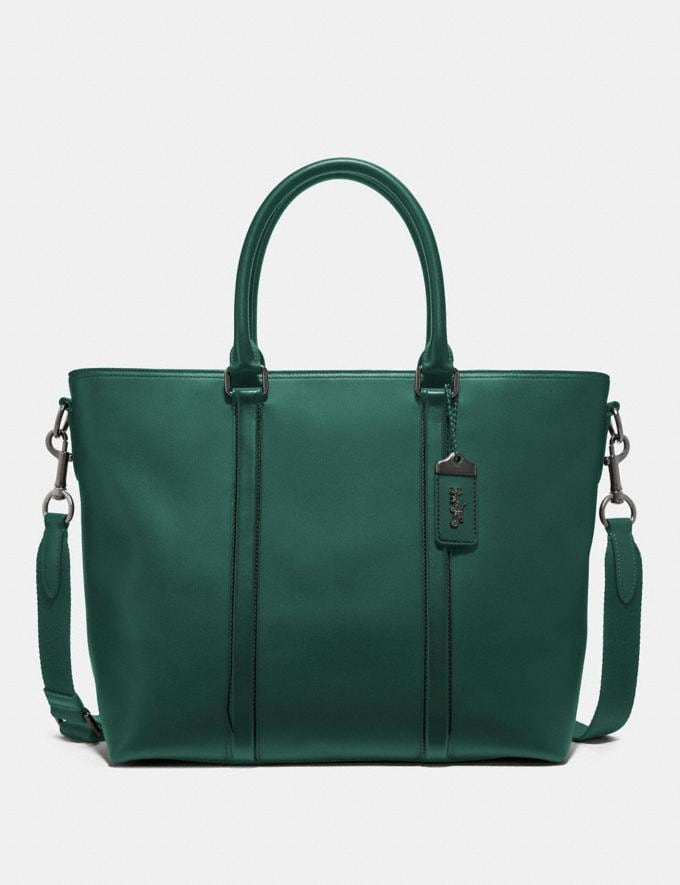 Coach Metropolitan Tote Emerald/Black Copper Men Edits Travel