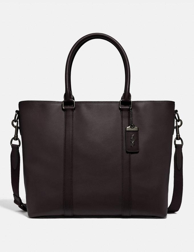 Coach Metropolitan Tote Black Copper/Oak New Men's New Arrivals Bags