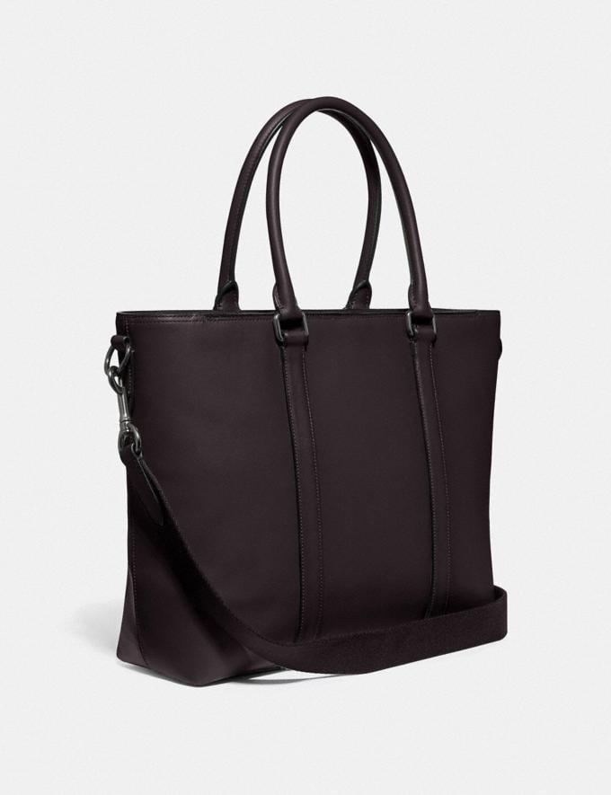 Coach Metropolitan Tote Black Copper/Oak New Men's New Arrivals Bags Alternate View 1