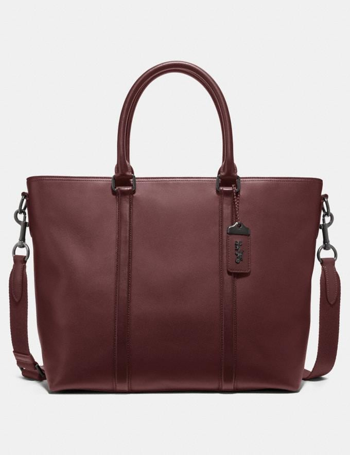 Coach Metropolitan Tote Wine/Black Copper New Men's New Arrivals Bags