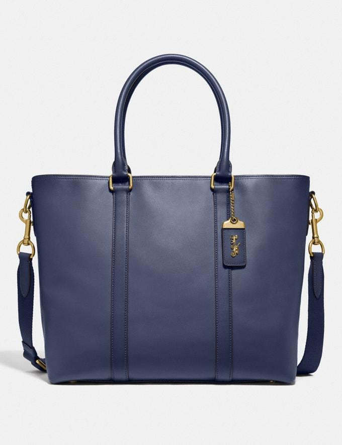 Coach Metropolitan Tote Brass/Blue Mist Men Edits Travel