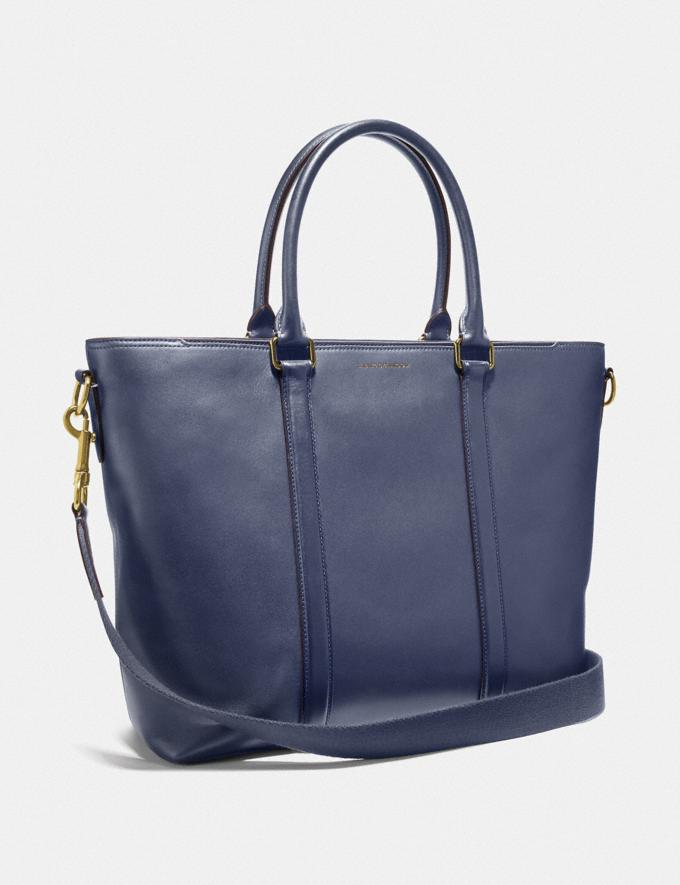 Coach Metropolitan Tote Brass/Blue Mist Men Edits Travel Alternate View 1