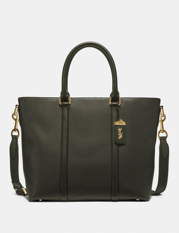 Coach Metropolitan Tote Pine/Brass Men Edits Travel