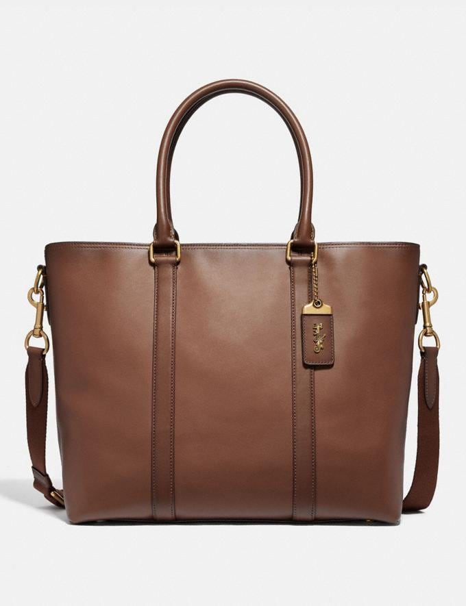 Coach Metropolitan Tote Saddle/Brass SALE Men's Sale