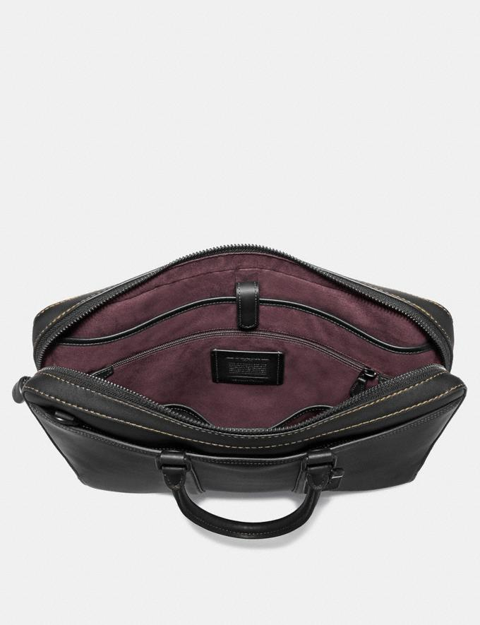 Coach Metropolitan Slim Brief Black/Black Copper Men Edits Your Life, Your Coach Alternate View 2
