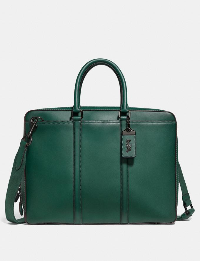 Coach Metropolitan Slim Brief Emerald/Black Copper Men Edits Work