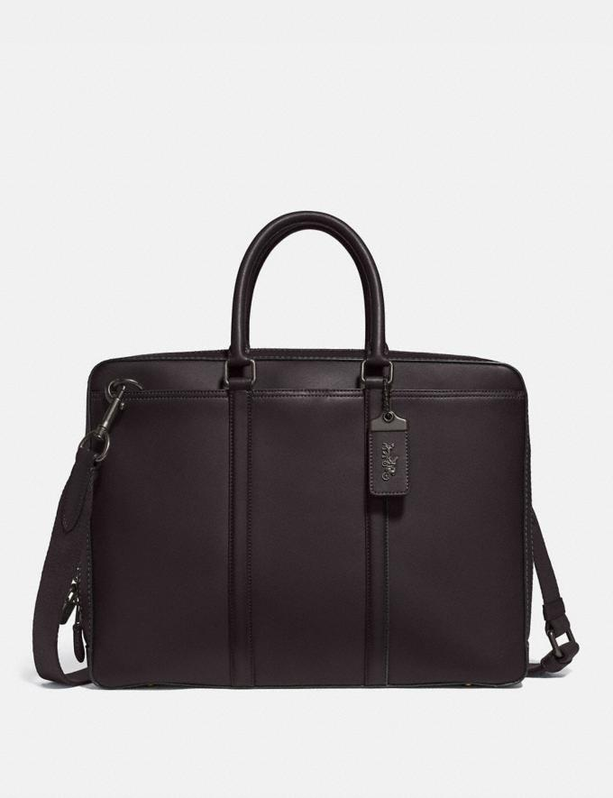 Coach Metropolitan Slim Brief Black Copper/Oak Gifts For Him