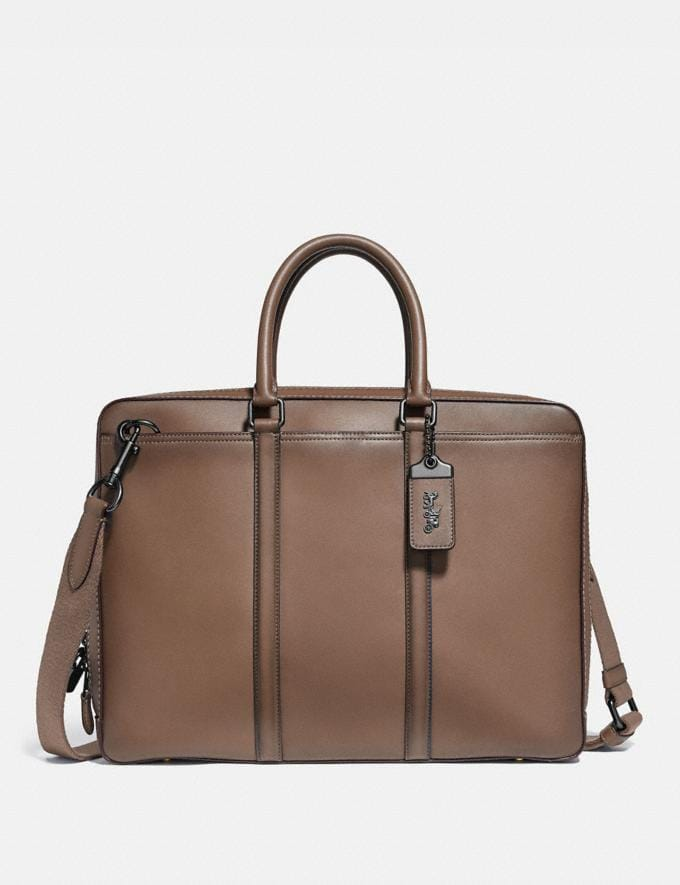 Coach Metropolitan Slim Brief Black Copper/Elm New Men's New Arrivals Bags