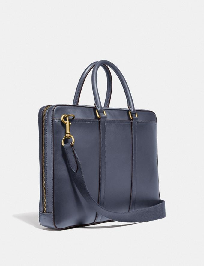 Coach Porte-Documents Fin Metropolitan Laiton/Brun Bleu Homme Sacs Porte-documents Autres affichages 1