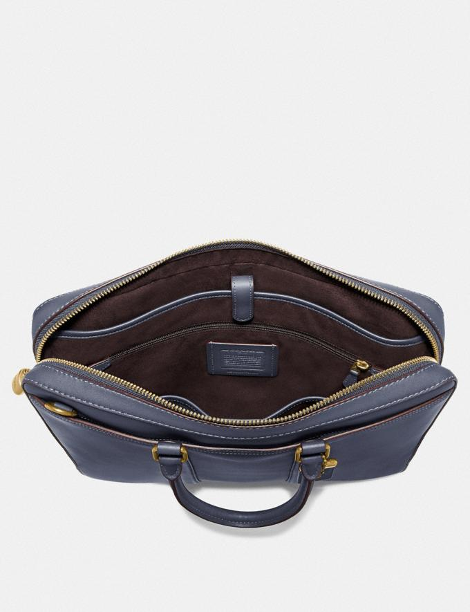 Coach Metropolitan Slim Brief Brass/Blue Mist Men Edits Work Alternate View 2