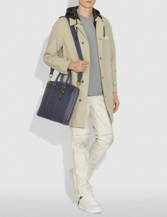 Coach Porte-Documents Fin Metropolitan Laiton/Brun Bleu Homme Sacs Porte-documents Autres affichages 3