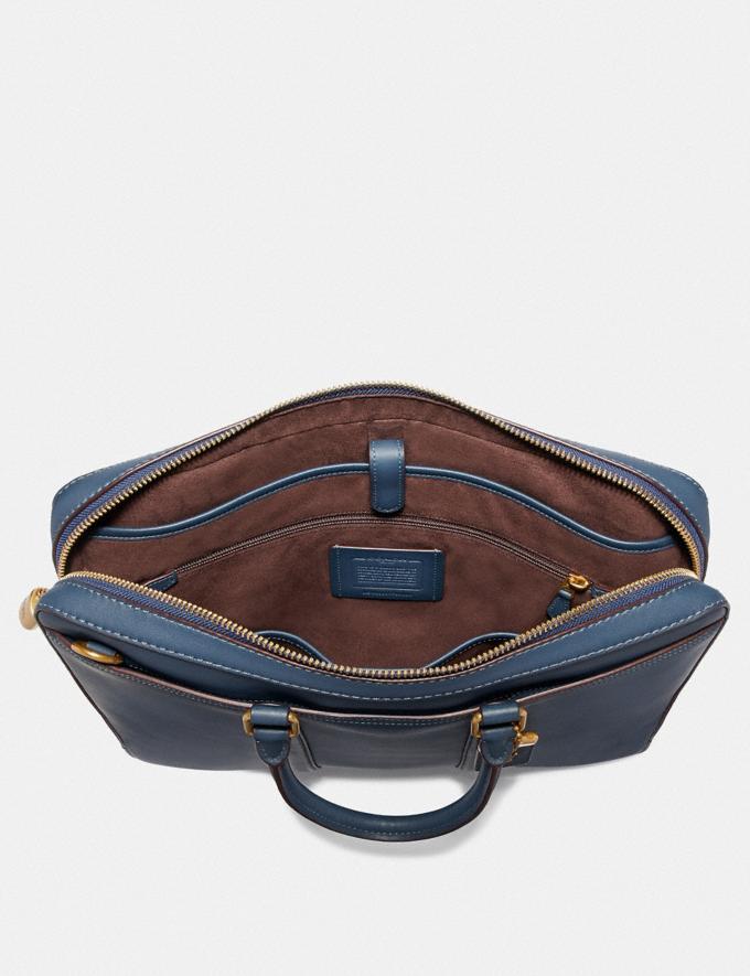 Coach Metropolitan Slim Brief Marina/Brass Men Bags Briefcases Alternate View 2