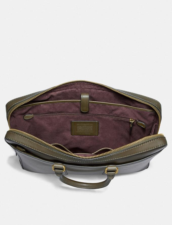 Coach Metropolitan Slim Brief Pine/Brass New Men's Trends Business Best Alternate View 2