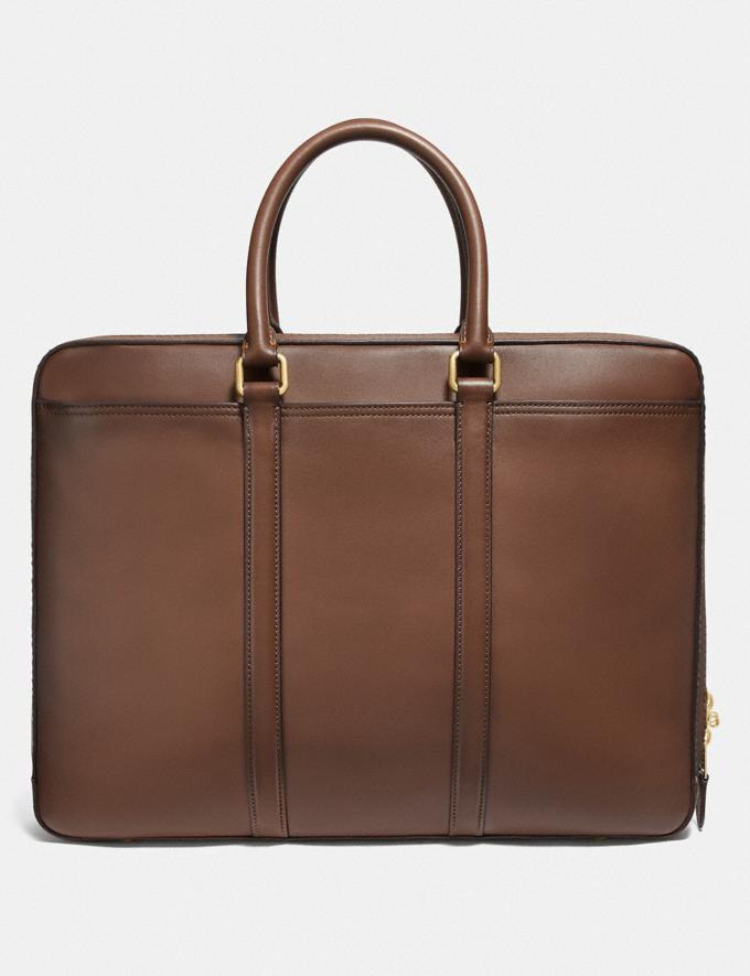Coach Metropolitan Slim Brief Saddle/Brass New Men's New Arrivals Bags Alternate View 2