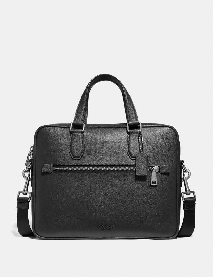Coach Kennedy Brief Black/Silver New Men's New Arrivals